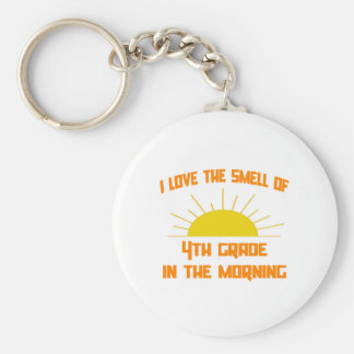 Smell of 4th Grade in the Morning Keychain