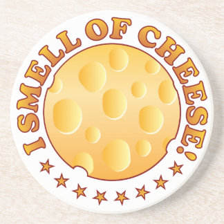 Smell Of Cheese Brown Beverage Coasters