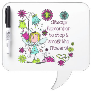 Smell the Flowers Dry Erase Board