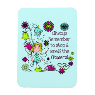 Smell the Flowers Fairy Garden Rectangular Photo Magnet