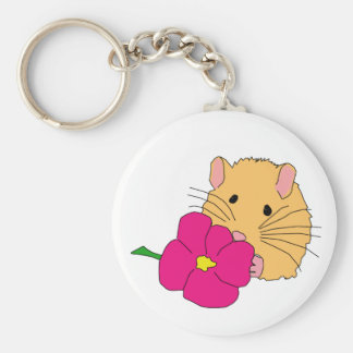 smell the roses basic round button key ring