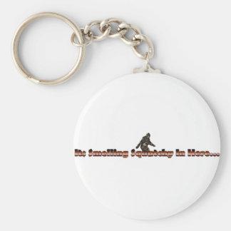 smelling squatchy basic round button key ring