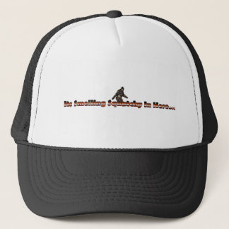 smelling squatchy trucker hat