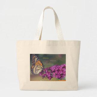 Smelling the flower jumbo tote bag