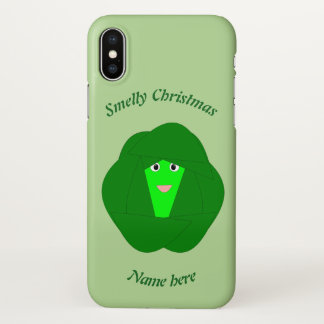 Smelly Christmas Brussels Sprou Custom iPhone case