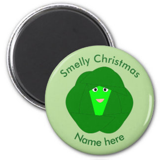 Smelly Christmas Brussels Sprout Magnet