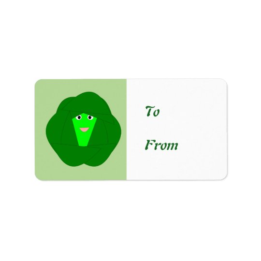 Smelly Christmas Brussels Sprout Present Tag Label