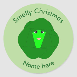Smelly Christmas Brussels Sprout Stickers