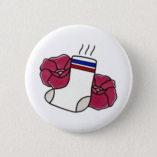 Smelly // Sock Badge. 6 Cm Round Badge