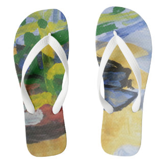 "Smeraldo Gallery ""Fishing Boats"" Flip Flops"