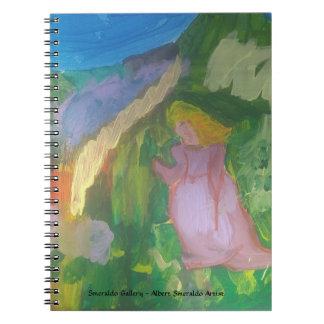 "Smeraldo Gallery""Lady in Garden"" Notebook"