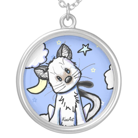 Smidge Kitty Moon & Stars Necklace