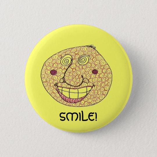 SMILE! 6 CM ROUND BADGE