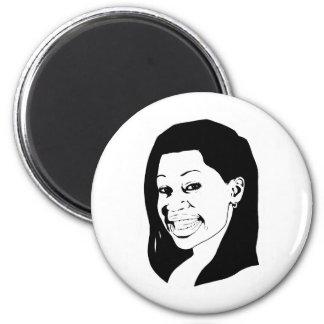 Smile 6 Cm Round Magnet