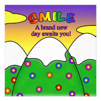 Smile A Brand New Day Awaits You Square Print Photo Print
