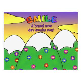 Smile A Brand New Day Awaits You Wall Panel