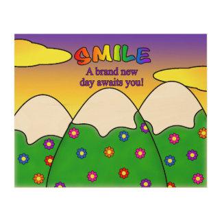 Smile A Brand New Day Awaits You Wood Wall Art Wood Prints