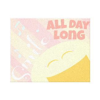Smile All Day Long! Canvas Print