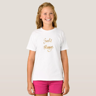 Smile Always (Girls Slogan Top) T-Shirt