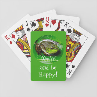 Smile and Be Hoppy Playing Cards