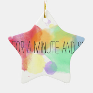 smile and happy peace life with colorful quote christmas ornament