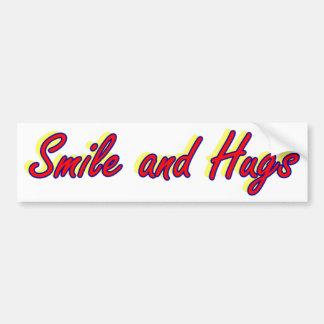 Smile and Hugs Bumper Sticker