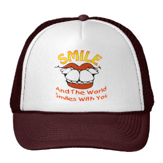 Smile and the World Smileds with You Trucker Hat