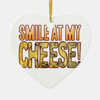 Smile At Blue Cheese Christmas Ornament