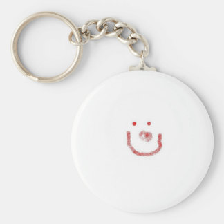 smile basic round button key ring