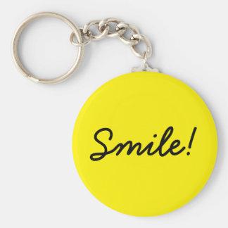 Smile! Basic Round Button Key Ring