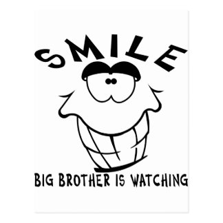 Smile Big Brother Is Watching Post Card