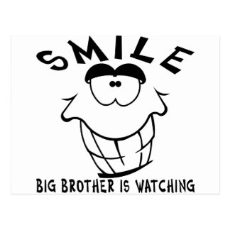 Smile Big Brother Is Watching Post Cards