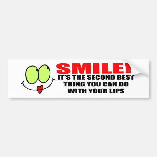 Smile Bumper Sticker