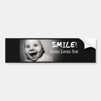 SMILE! BUMPER STICKER