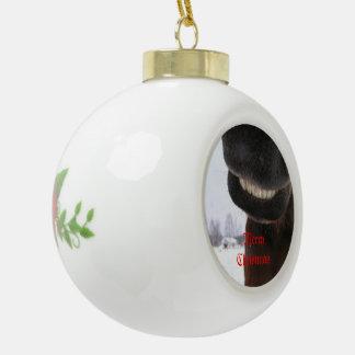 Smile Ceramic Ball Christmas Ornament
