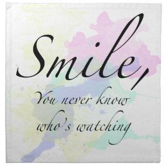 smile cloth napkin