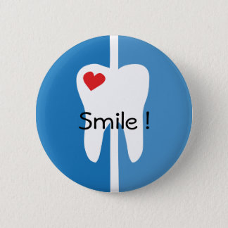 Smile cool dental hygienist name pin