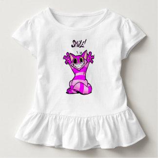 Smile, cute purple cartoon cat, funny comic animal toddler T-Shirt