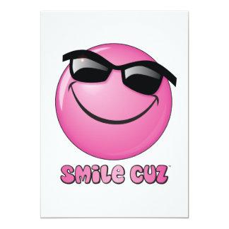 smile cuz 13 cm x 18 cm invitation card