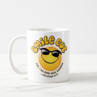 smile cuz ...yes, i am little miss sunshine classic white coffee mug