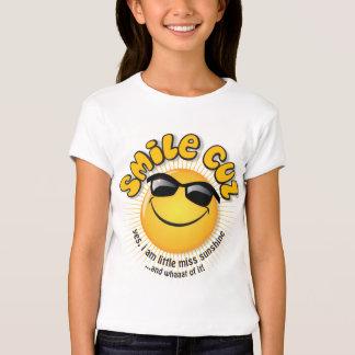 smile cuz ...yes, i am little miss sunshine shirt
