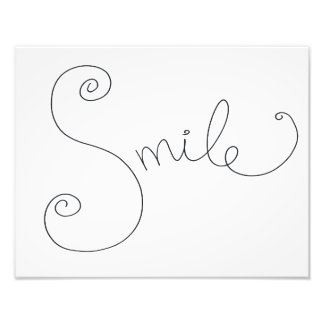 smile doodle print photographic print