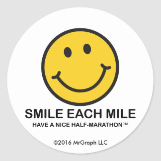 "Smile Each Mile / ""Nice Half-Marathon"" Sticker"
