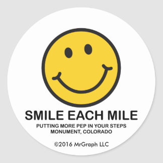 "Smile Each Mile / ""Pep In Step"" Sticker"
