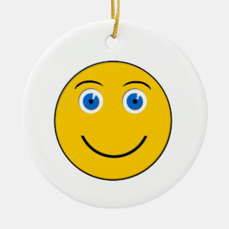 Smile emoji Round Ornament