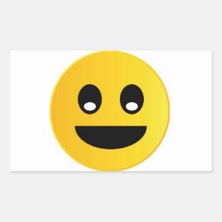 Smile emoticon rectangular sticker