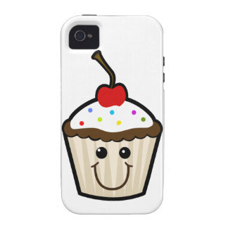 Smile Face Cupcake iPhone 4 Case
