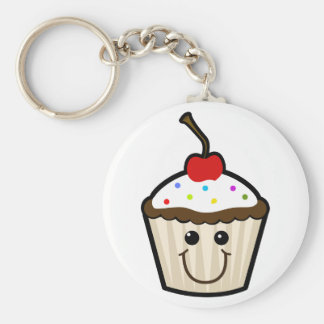 Smile Face Cupcake Keychain