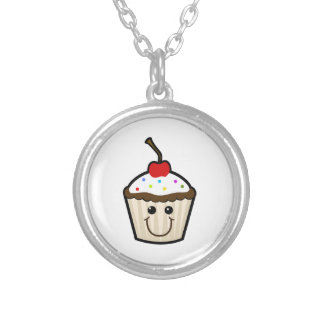 Smile Face Cupcake Necklace