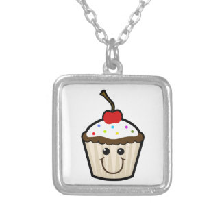 Smile Face Cupcake Personalized Necklace